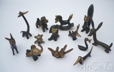 Walther Bosse Style Modernist Animal Figures