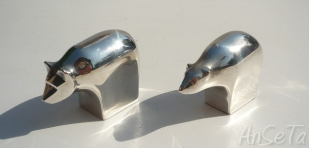 Dansk Designs Silver Plated Animals