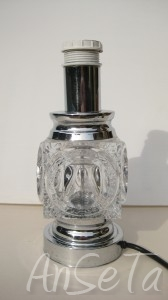 Chrome and Glass Mid-century Lamp base