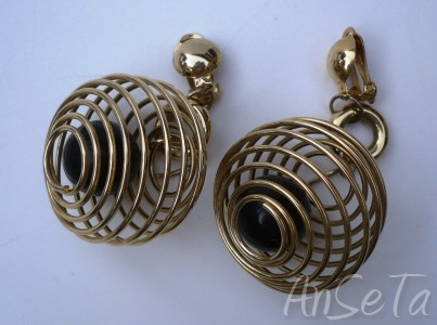 Ball in Cage Kitsch Earrings