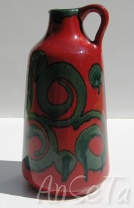 Roth Keramik West German Handled Vase