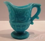 Blue Milk Glass Creamer Portieux