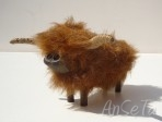 Vintage Highland Cattle Figure