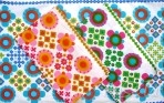 Flower Power Retro 1970s Tea Cotton Tea Towelss