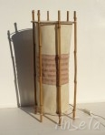 Louis Sognot Bamboo and Rattan Lamp