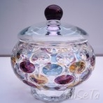 Borske Sklo Glass Lidded Pot Nemo Range