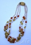 Vintage French Glass Necklace