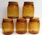 Amber Glass Storage Jars