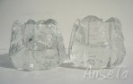 Orrefors Sweden Glass Nightlight Holders