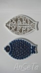 Porsgrund Norway Ceramic Fish Plaques
