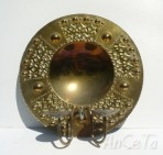 Swedish Brass Wall Sconce