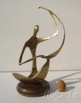 Vintage Brass Sculptural Figure