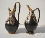 U Keramik West German Pottery Handled Jugs