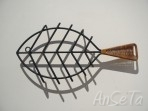 Vintage Wrought Iron Fish Trivet