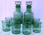 Italian Green Vintage Glass