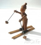 Vintage French wooden skier
